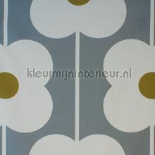Abacus flower olive cortinas Eijffinger romántico