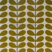 Two color stem olive cortinas Eijffinger retro
