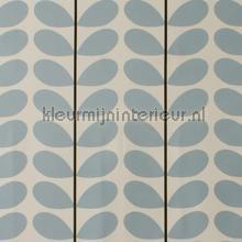 Two color stem powder blue cortinas Eijffinger retro