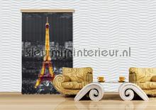 Eiffel Tower lighted cortinas Kleurmijninterieur nuevas colecciones