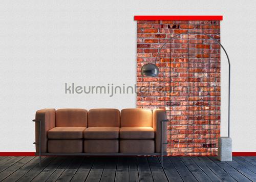 Bakstenen muur curtains FCS L 7501 teenager Kleurmijninterieur