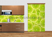 Green limes curtains Kleurmijninterieur kitchen