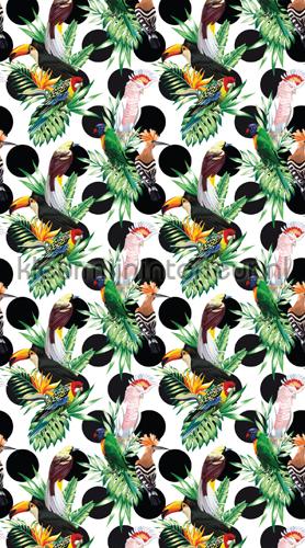 Exotic birds curtains FCS L 7549 teenager Kleurmijninterieur