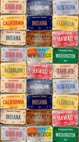 Number plates curtains FCS L 7568 teenager Kleurmijninterieur