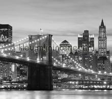 Brooklyn Bridge zwart wit curtains Kleurmijninterieur cities