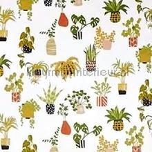 Pot plants coral curtains Prestigious Textiles all images