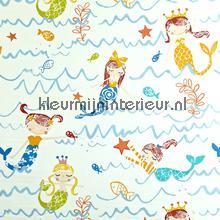 Mermaid Azure vorhang Prestigious Textiles Playtime 5720-707