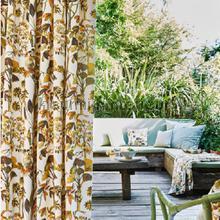 Lagoon papaya gordijnen Prestigious Textiles romantisch