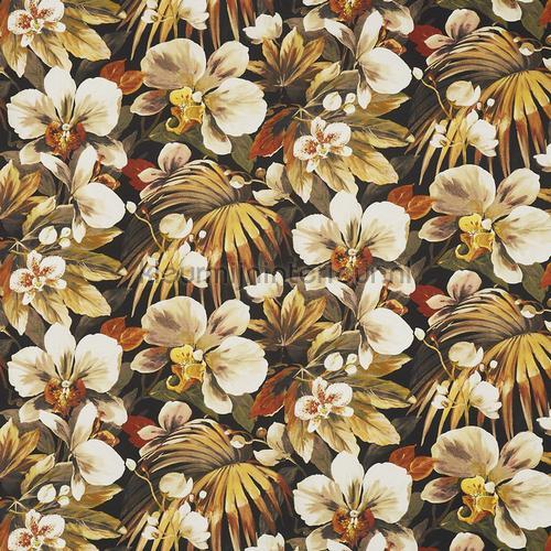 Lagoon papaya cortinas 8648-428 flores Prestigious Textiles