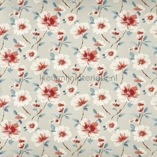 abbotsbury sapphire rideau 3733-710 fleurs Prestigious Textiles