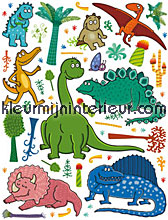 Dinos interieurstickers DC-Fix behang