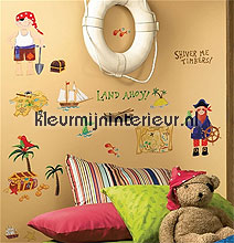 Treasure hunt appliques interieurstickers RoomMates behang