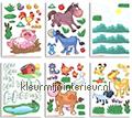 Baby Boerderij decoration stickers Walltastic window stickers