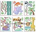 Baby Jungle decoration stickers 41059 Walltastic