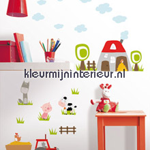 Happy Farm interieurstickers Caselio Baby Peuter