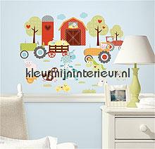 Happi barnyard autocolantes decoracao RoomMates Bebês Crianças