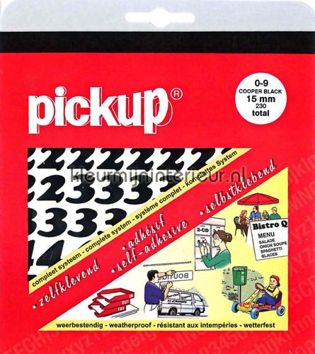 Cijferset, Cooper Black, 15mm, Zwart wallstickers 12101015 tal og bogstaver Pick-up