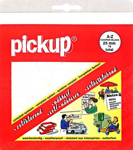 Letterset, Cooper Black, 25mm, Wit stickers mureaux 12110025 chiffres et lettres Pick-up