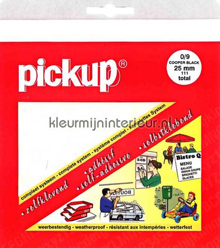 Cijferset, Cooper Black, 25mm, Wit stickers mureaux 12111025 chiffres et lettres Pick-up