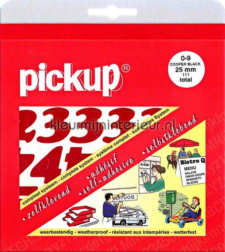Cijfers, Cooper Black, 25mm, Rood wallstickers 12121025 tal og bogstaver Pick-up