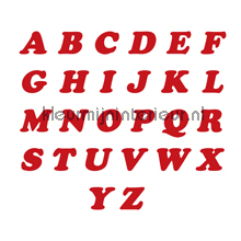 Letterset, Cooper Black, 15mm, Rood decoration stickers 12120015 numbers and letters set Pick-up