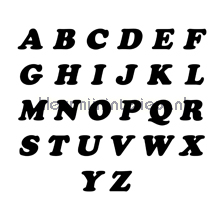 Letterset, Cooper Black, 15mm, Zwart wallstickers 12100015 tal og bogstaver Pick-up
