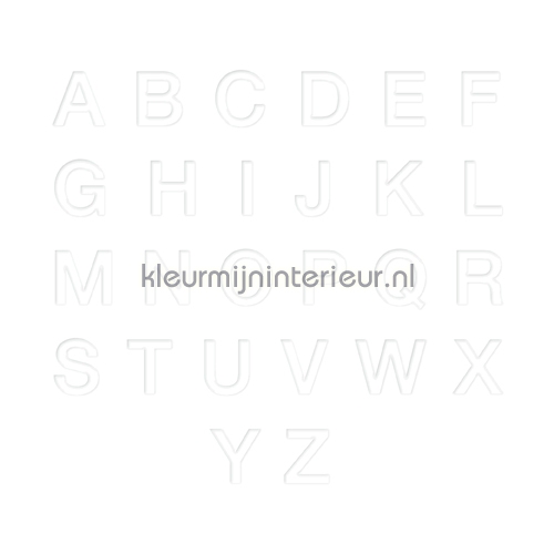 Letterset, Helvetica, 20mm, Wit decoration stickers 12010020 numbers and letters set Pick-up