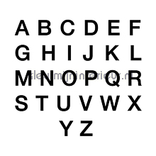 Letterset, Helvetica, 10mm, Zwart decoration stickers 12000010 numbers and letters set Pick-up