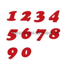Cijfers, Cooper Black, 15mm, Rood wallstickers 12121015 tal og bogstaver Pick-up