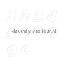 Cijferset, Cooper Black, 15mm, Wit stickers mureaux 12111015 chiffres et lettres Pick-up