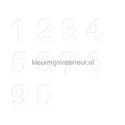 Cijferset, Helvetica, 20mm, Wit decoration stickers 12011020 numbers and letters set Pick-up