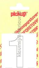 Cijfer 1 Helvetica decoration stickers Pick-up all images