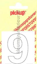 Cijfer 9 Helvetica decorative selbstkleber Pick-up alle bilder