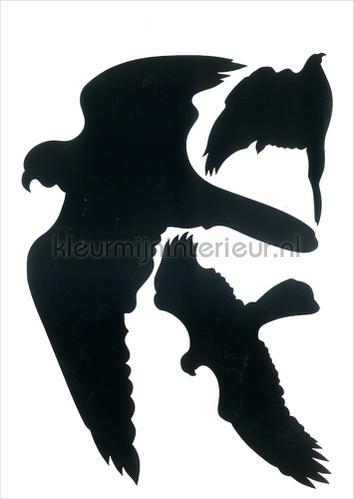 Glassilhouetten Vogels Zwart zelfklevend decoration stickers 4908090001 window stickers Pick-up
