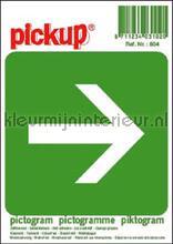 Nooduitgang pijl sticker vinilo decorativo Pick-up Señalización