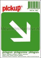 Nooduitgang interieurstickers Pick-up Pictogram