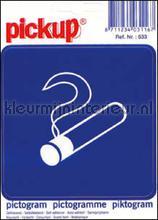Roken Toegestaan sticker interieurstickers Pick-up Pictogram