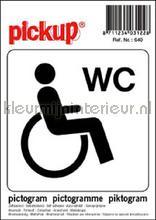 Invalide Toilet interieurstickers Pick-up Pictogram