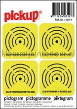 Alarm Aanwezig interieurstickers Pick-up Pictogram