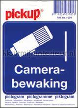 Camera Bewaking picto sticker interieurstickers Pick-up Pictogram