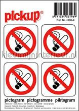 Roken Verboden stickers decoration stickers Pick-up Signage