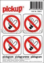 Roken Verboden stickers interieurstickers Pick-up Pictogram