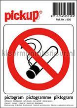 Verboden te Roken picto sticker interieurstickers Pick-up Pictogram