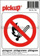 Verbod Open Vuur picto sticker decoration stickers Pick-up Signage