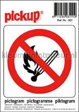 Verbod Open Vuur picto sticker interieurstickers Pick-up Pictogram