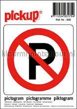 Parkeerverbod picto sticker interieurstickers Pick-up Pictogram