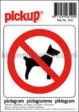 Verbod voor Honden picto sticker interieurstickers Pick-up Pictogram