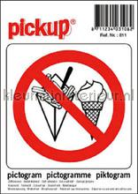 Verbod etenswaren picto sticker decoration stickers Pick-up Signage