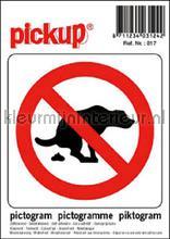 Verbod Hondenpoep picto sticker interieurstickers Pick-up Pictogram