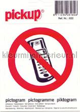 Verbod Telefoon picto sticker decoration stickers Pick-up Signage